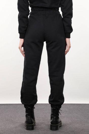 Черные женские брюки-джоггеры - Thumbnail