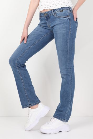 BLUE WHITE - Blue Eyes Women Jean Trousers   (1)