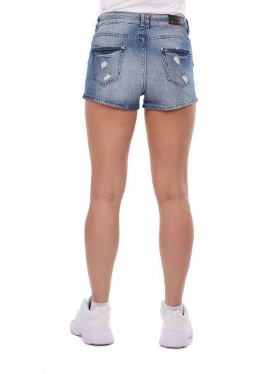 Blue Eyes Women's Jean Shorts - Thumbnail