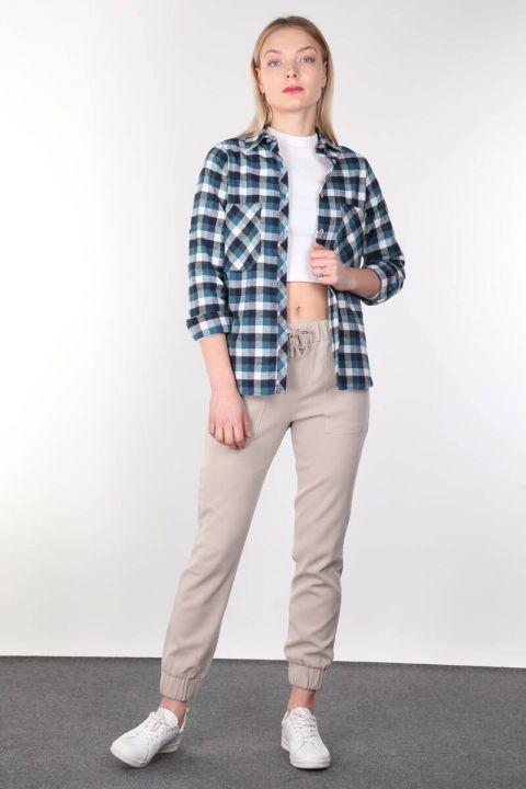 Blue Plaid Women Shirt