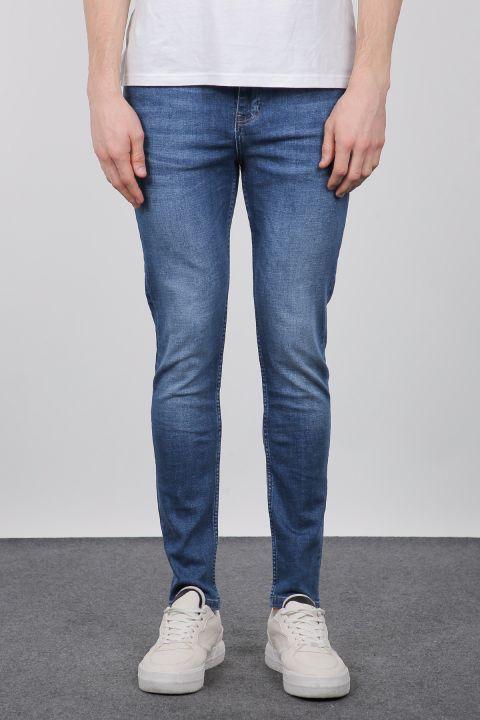 Синие мужские джинсовые брюки Slim Fit