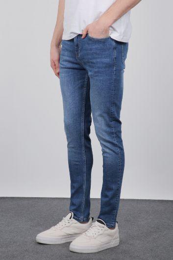 Banny Jeans - Синие мужские джинсовые брюки Slim Fit (1)