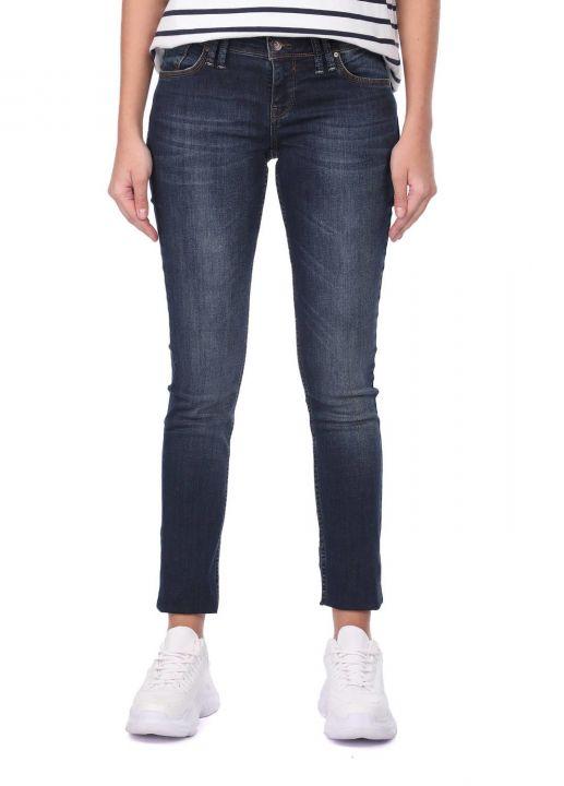 Blue White Dar Kesim Kadın Jean Pantolon