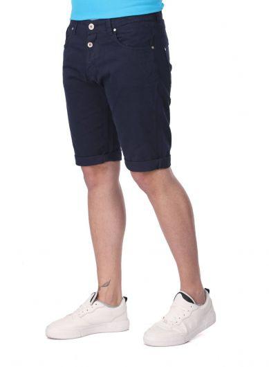 BLUE WHITE - Blue White Erkek Jean Kapri (1)