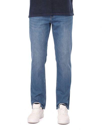 Blue White Erkek Comfort Jean Pantolon - Thumbnail