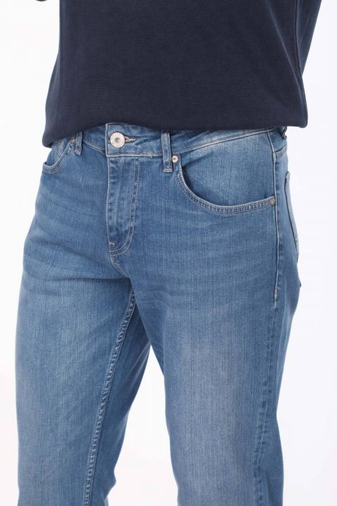 Blue White Erkek Comfort Jean Pantolon