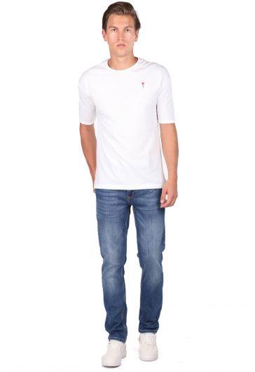 Blue White Erkek Jean Pantolon - Thumbnail