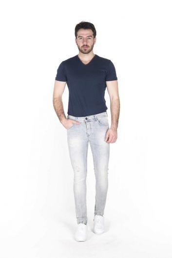 BLUE WHITE - Blue White Erkek Jean Pantolon (1)