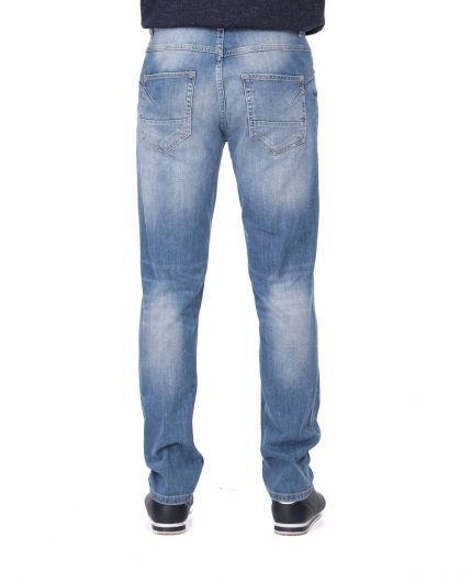 Blue White Erkek Rahat Kesim Jean Pantolon - Thumbnail