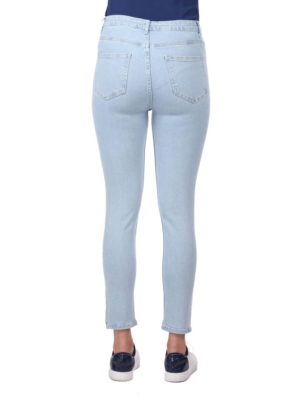 Blue White Kadın Açık Mavi Skinny Fit Jean Pantolon