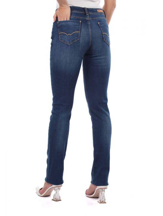 Blue White Kadın Lacivert Jean Pantolon