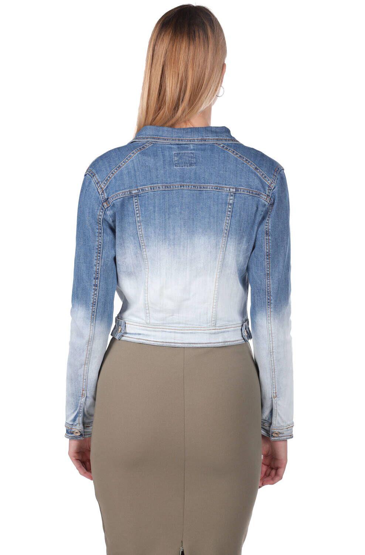 Blue White Kadın Kot Ceket