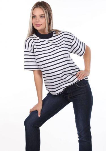 Regular Fit Kadın Koyu Jean Pantolon - Thumbnail