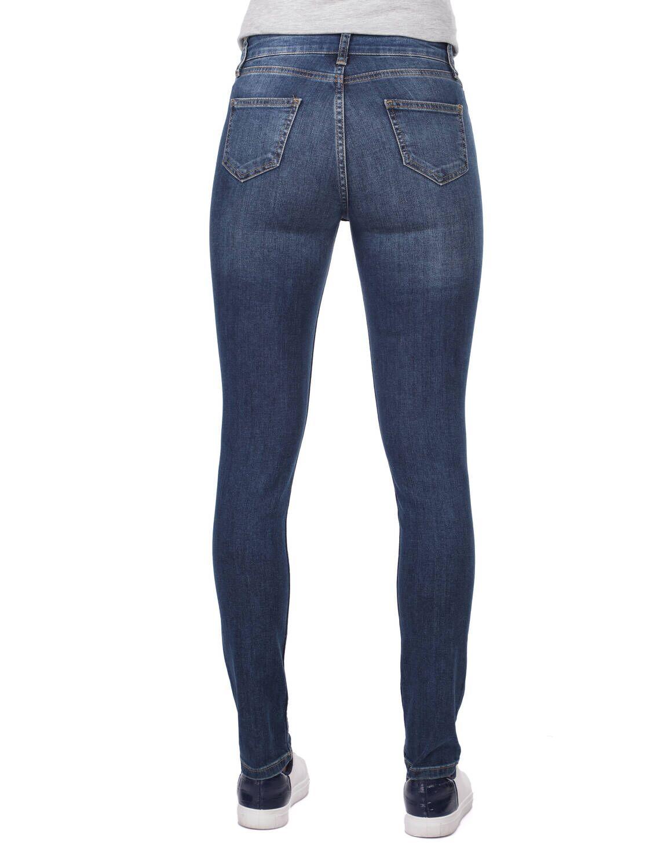 Blue White Kadın Skınny Koyu Kot Pantolon