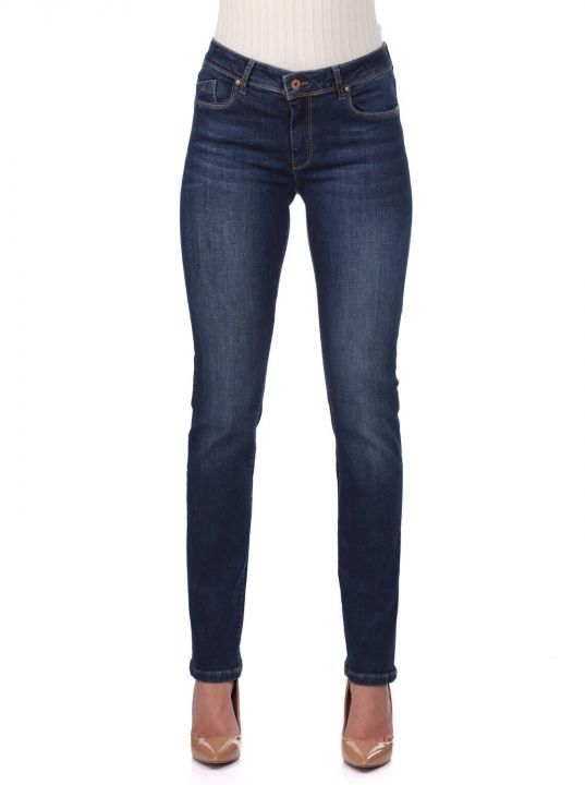 Orta Bel Kadın Jean Pantolon