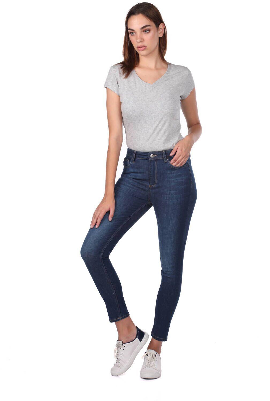 Blue White Kadın Kot Pantolon