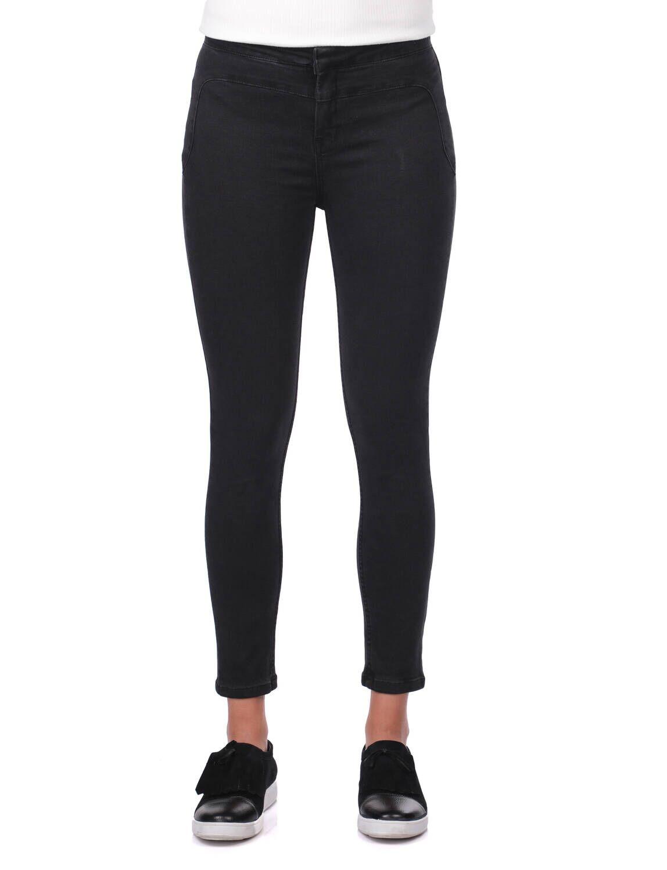 Blue White Kadın Skinny Siyah Jean Pantolon