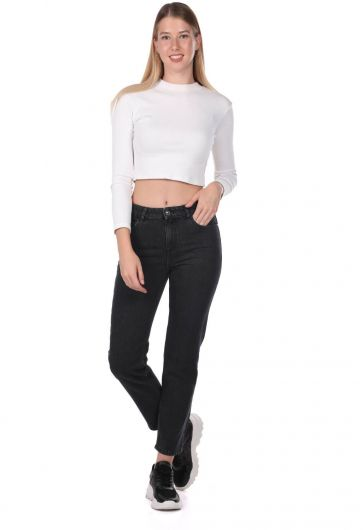Blue White Kadın Kot Pantolon - Thumbnail