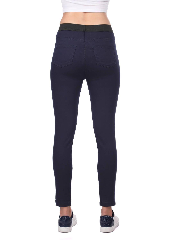 Blue White Kadın Lacivert Tayt Kot Pantolon