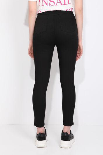 Blue White Kadın Yüksek Bel Siyah Jean Pantolon - Thumbnail