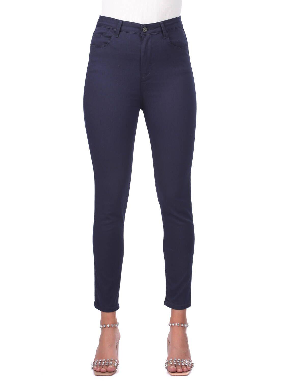 Blue White Kadın Lacivert Yüksek Bel Kot Pantolon