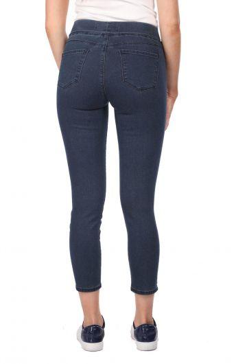 Blue White Kadın Cep Detaylı Tayt Jean Pantolon - Thumbnail