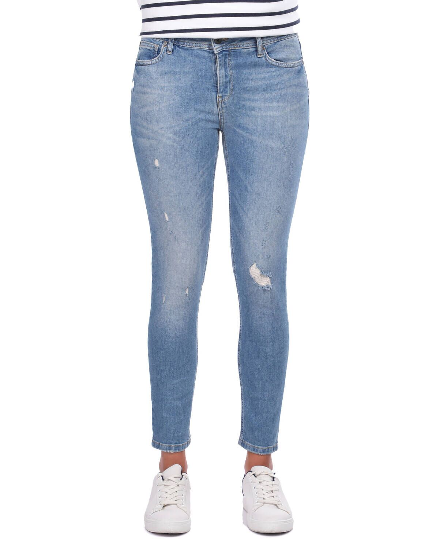 Blue White Kadın Paça Fermuarlı Jean Pantolon