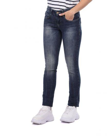 BLUE WHITE - Blue White Kadın Kot Pantolon (1)