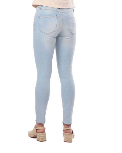 Blue White Kadın Açık Renk Jean Pantolon - Thumbnail