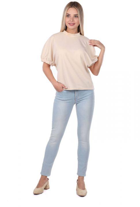 Blue White Kadın Açık Renk Jean Pantolon