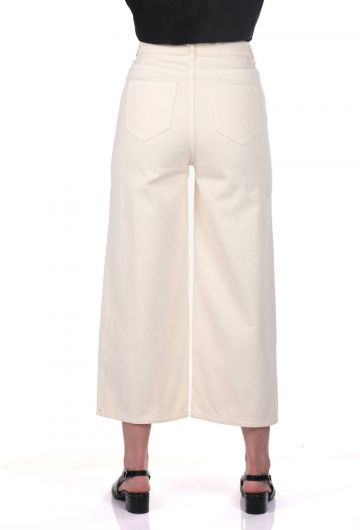 Blue White Kadın Geniş Paça Pantolon - Thumbnail