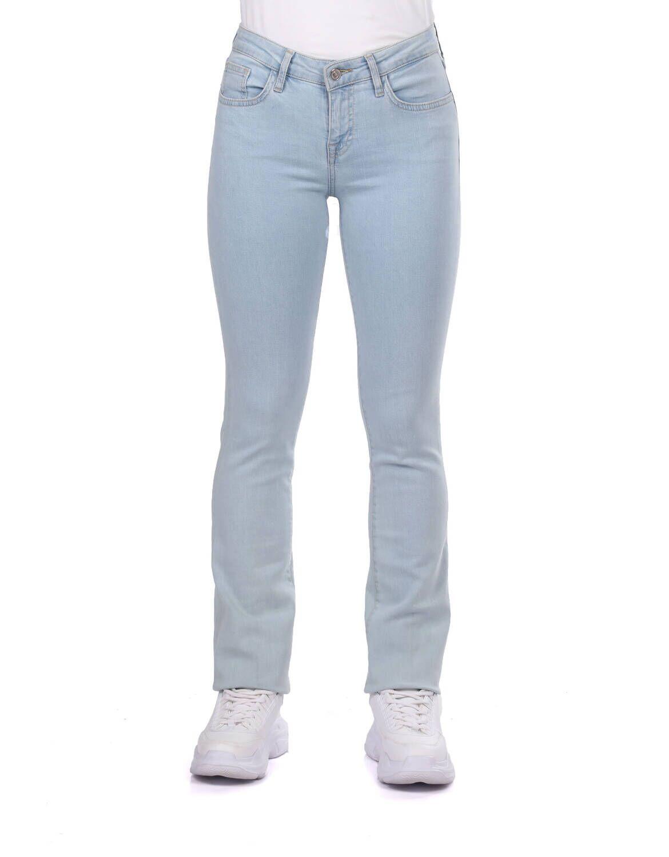 Blue White Kadın Regular Fit Açık Jean Pantolon