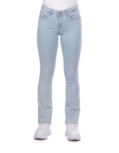Blue White Kadın Regular Fıt Açık Kot Pantolon - Thumbnail