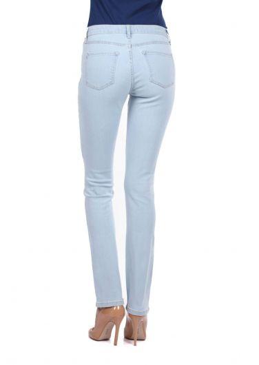 Blue White Regular Fıt Kadın Açık Kot Pantolon - Thumbnail