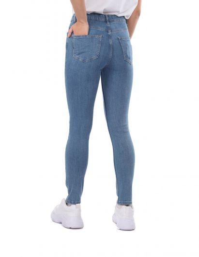 Blue White Kadın Skınny Jean Pantolon - Thumbnail