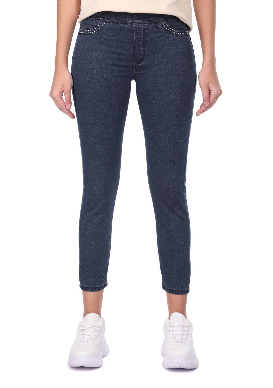 Blue White Kadın Tayt Jean Pantolon