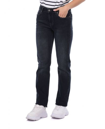 BLUE WHITE - Blue White Kadın Regular Fit Jean Pantolon (1)