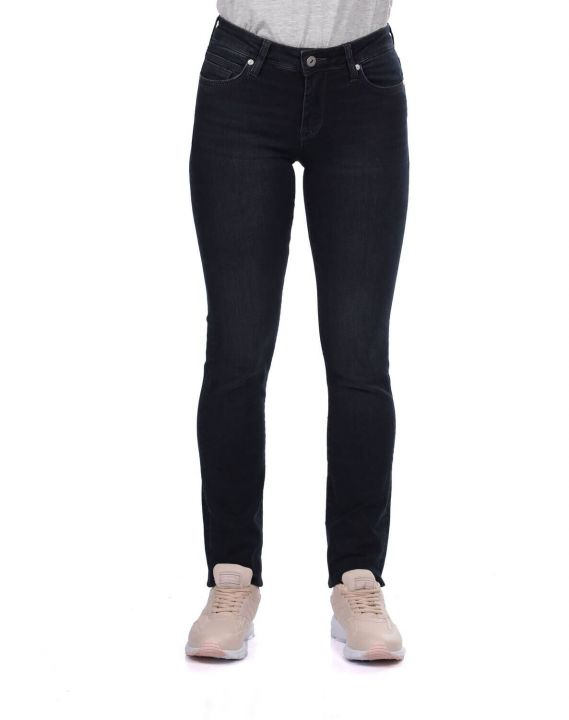 Blue White Kadın Regular Fit Siyah Jean Pantolon
