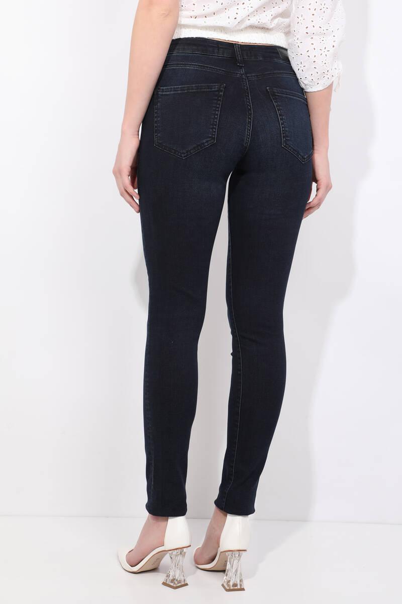 Blue White Skinny Jean Pantolon