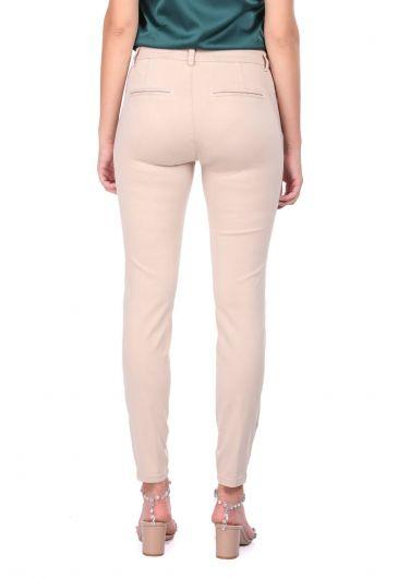 Blue White Ekru Kadın Jean Pantolon - Thumbnail