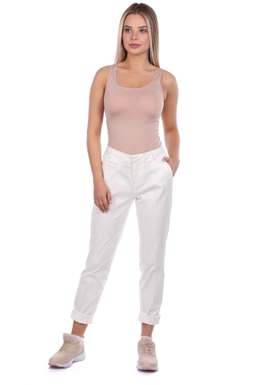 Blue White Kadın Beyaz Kumaş Pantolon