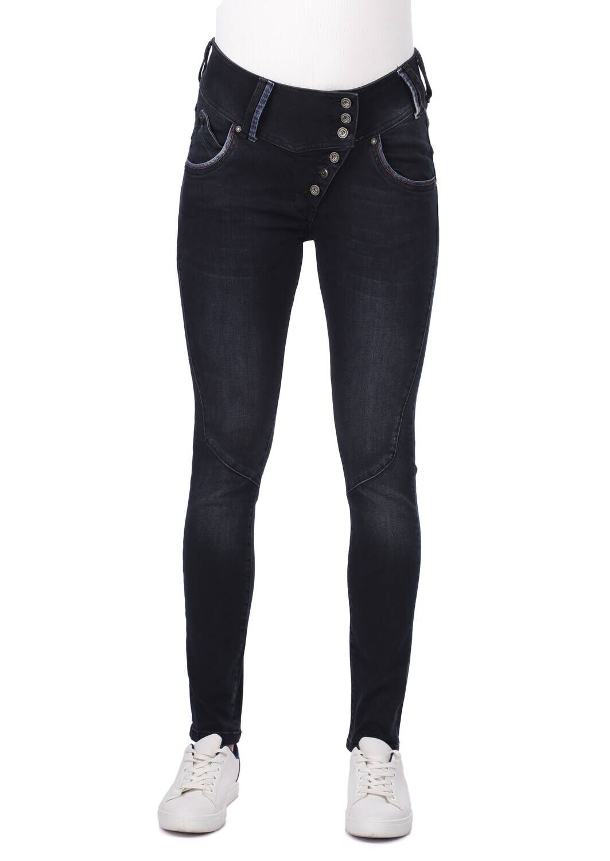 Blue White 6 Düğmeli Kadın Jean Pantolon