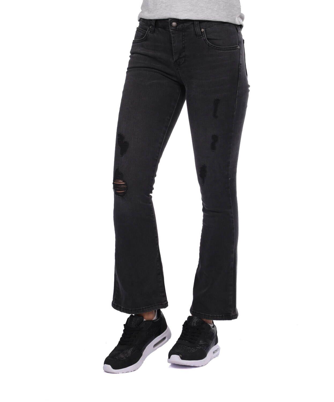 Blue White Kadın Siyah İspanyol Jean Pantolon