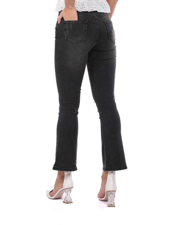 Blue White Kadın Siyah İspanyol Paça Jean Pantolon
