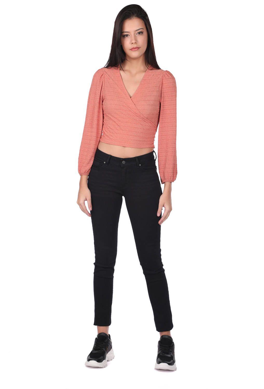Blue White Kadın Siyah Slim Fit Jean Pantolon