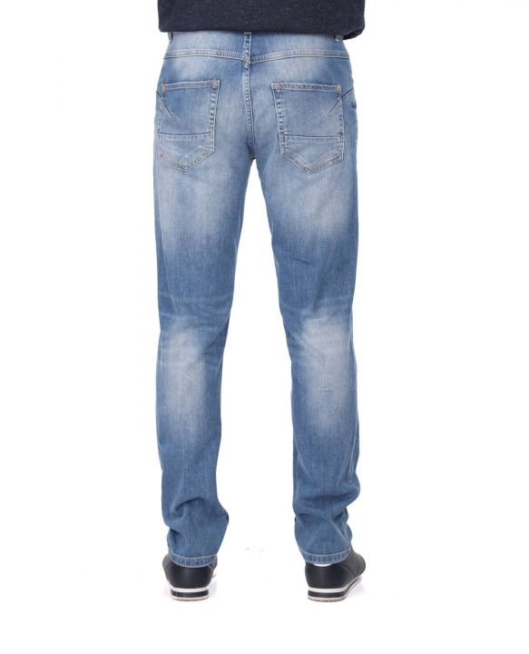 Сине-белые мужские повседневные джинсовые брюки