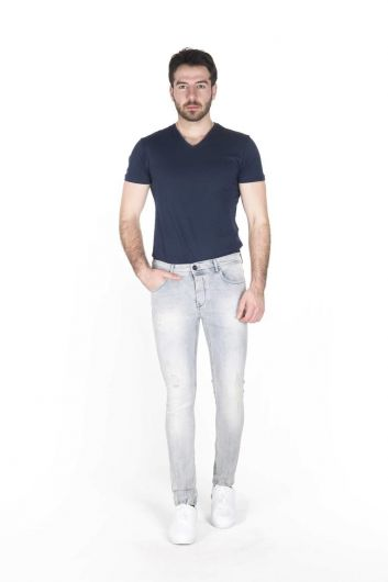BLUE WHITE - Blue White Men's Jean Trousers (1)