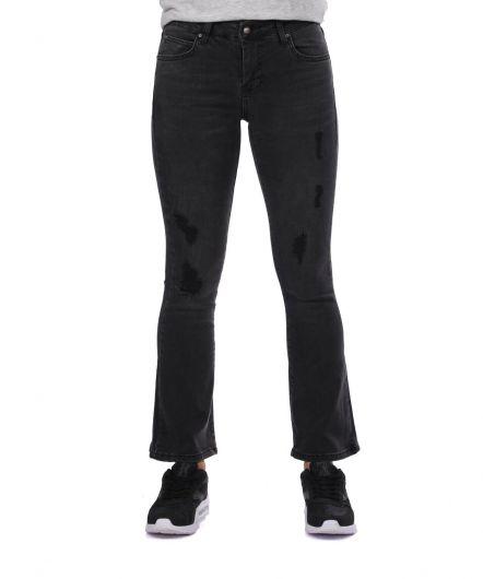 Синие белые женские черные испанские джинсовые брюки - Thumbnail