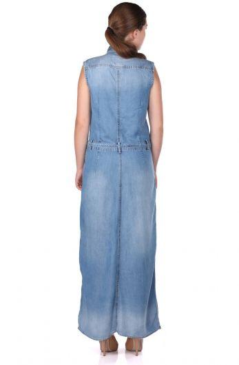فستان نسائي طويل بأزرار - Thumbnail