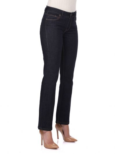 BLUE WHITE - Blue White Women's Indigo Jeans (1)